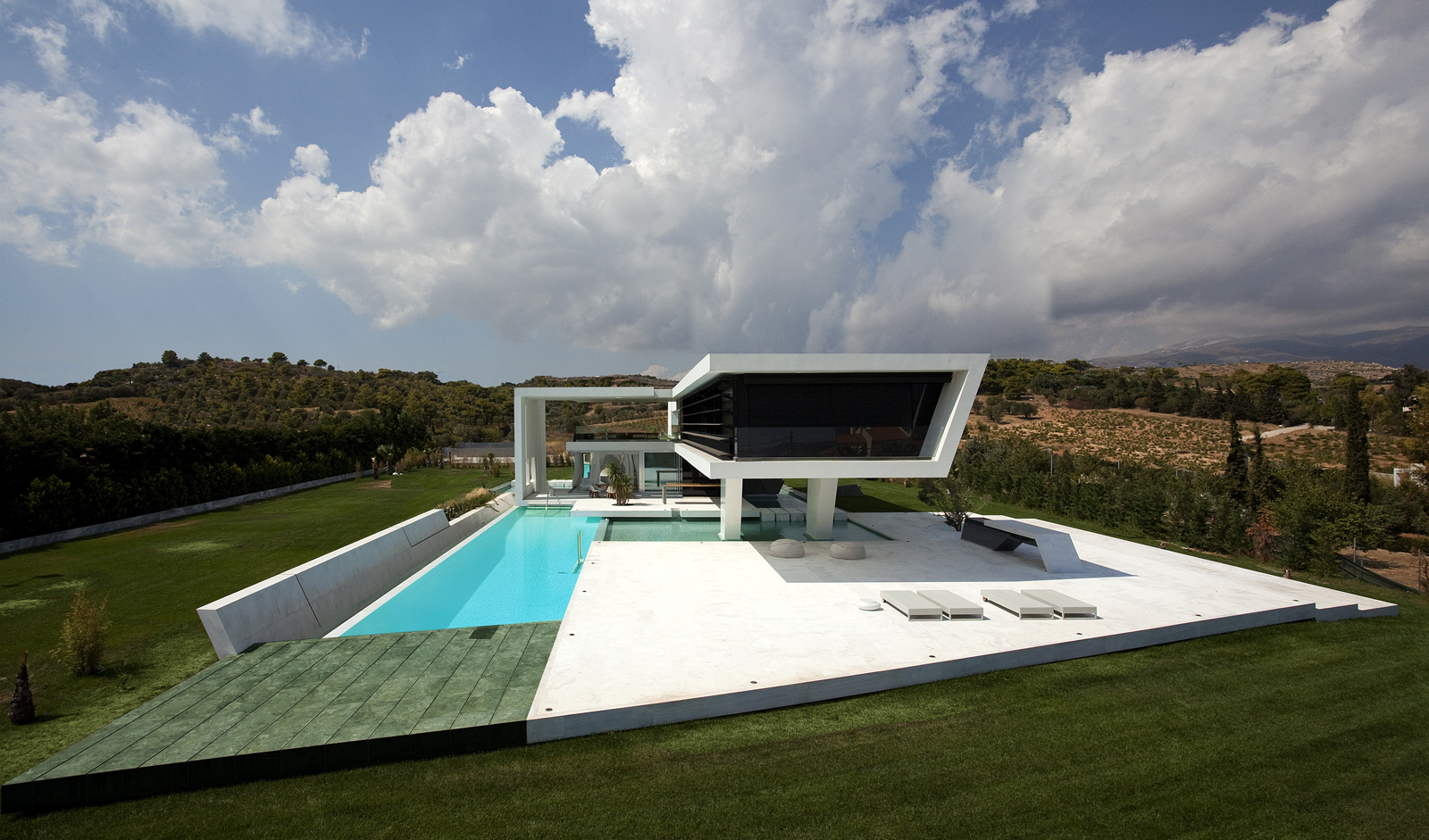 Impressive ultra modern house in athens architecture beast for Architecture design