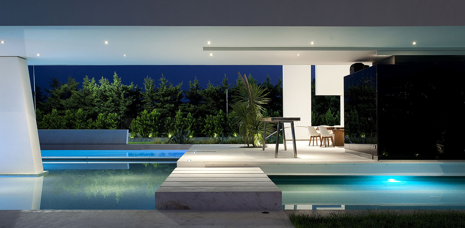 Terrace of an Impressive Ultra Modern House in Athens