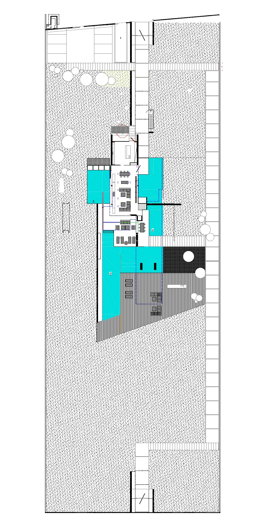 Site plan of an Impressive Ultra Modern House in Athens