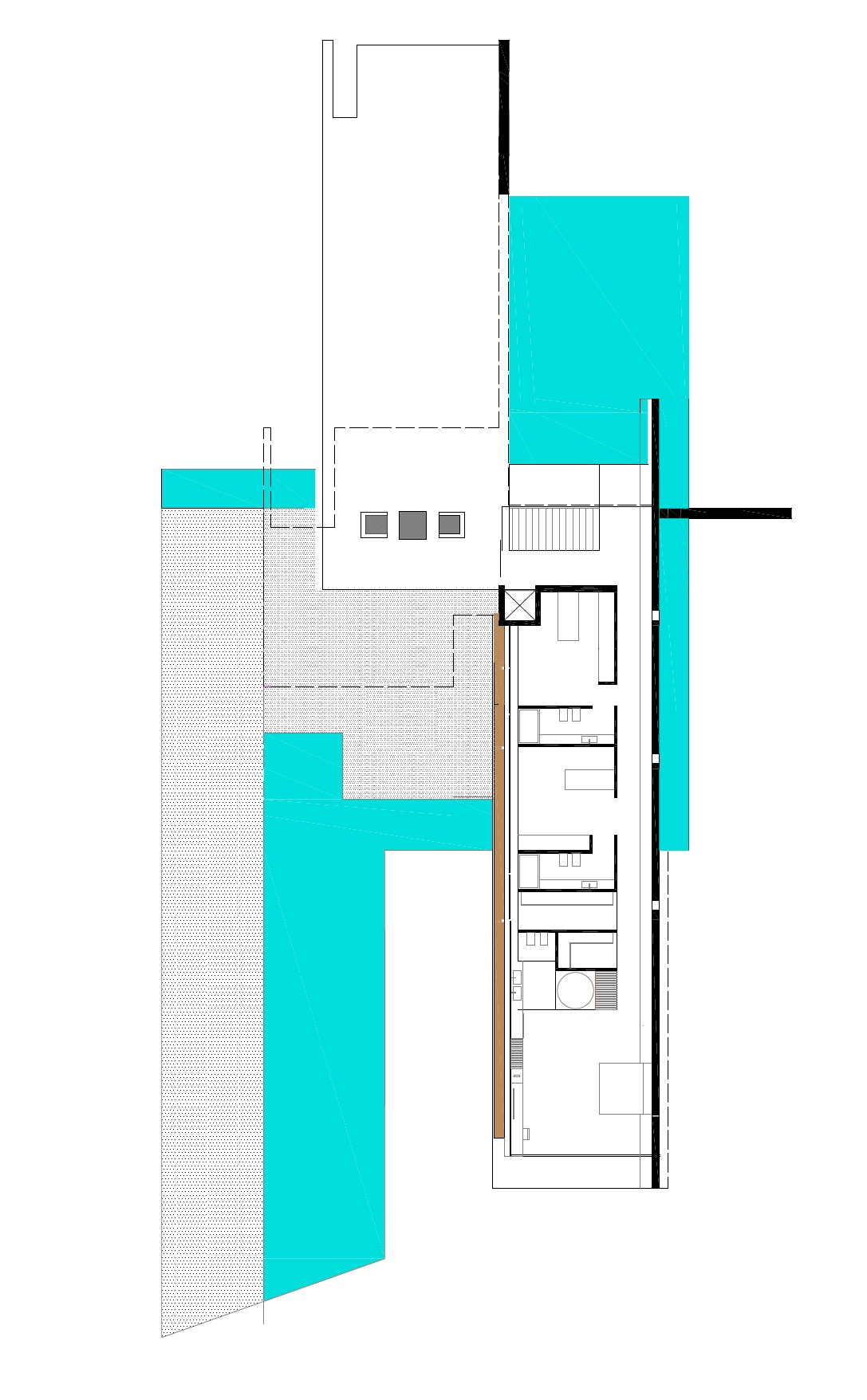First floor plan of an Impressive Ultra Modern House in Athens
