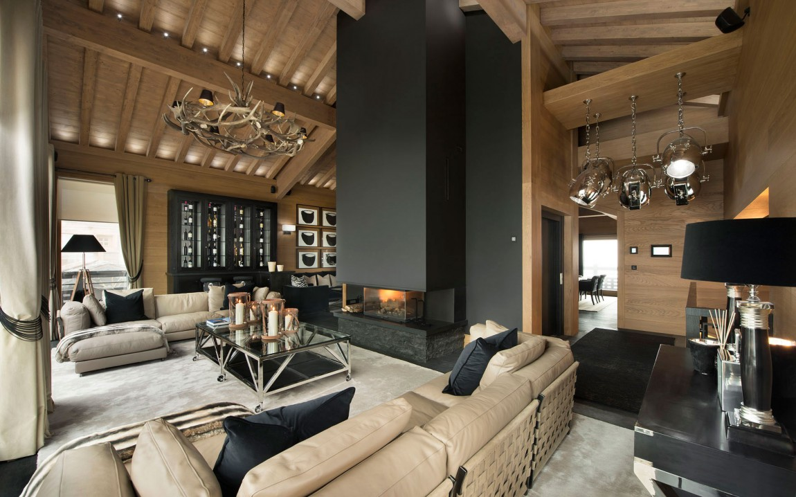 Inspiring modern chalet interior design from french alps for Decoration interieur original