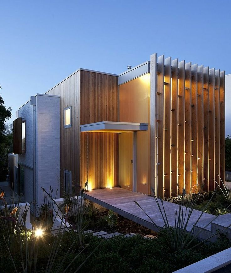 40 modern entrances designed to impress architecture beast for Contemporary house designs nz