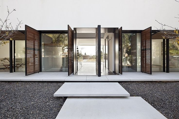40 modern entrances designed to impress architecture beast for Pinterest minimalist home