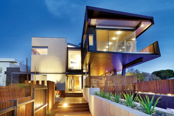 40 modern entrances designed to impress architecture beast for Australian beach house designs