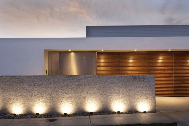 facade lights - Minimalist Architecture Houses
