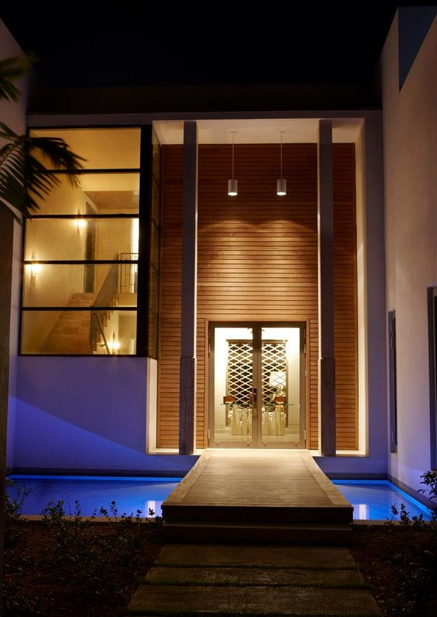 Beautiful modern entrance