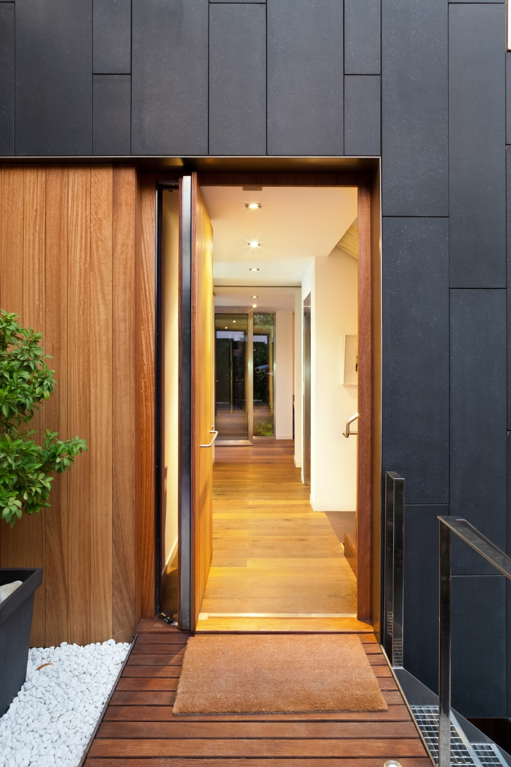 40 modern entrances designed to impress architecture beast for Black home design