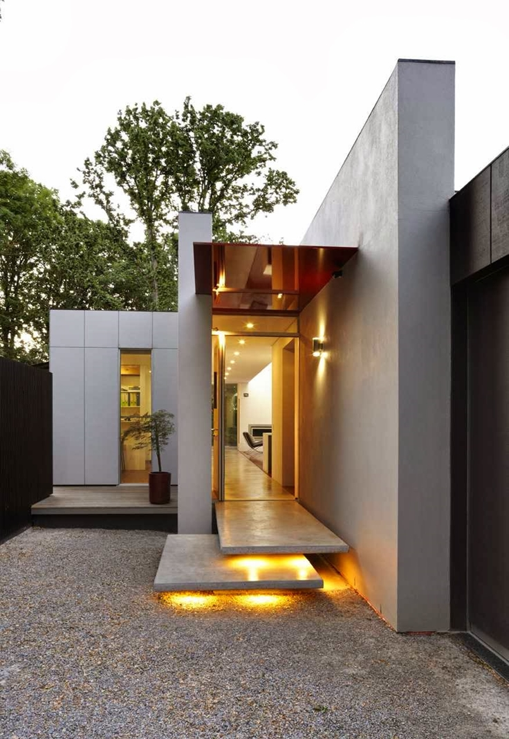 40 modern entrances designed to impress architecture beast for Modern entrance door design