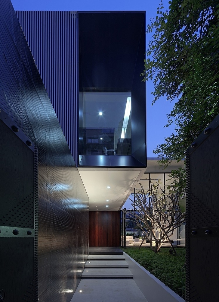 Modern home and facade