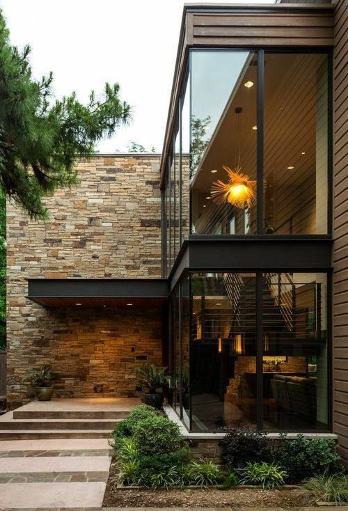 Modern glass wall
