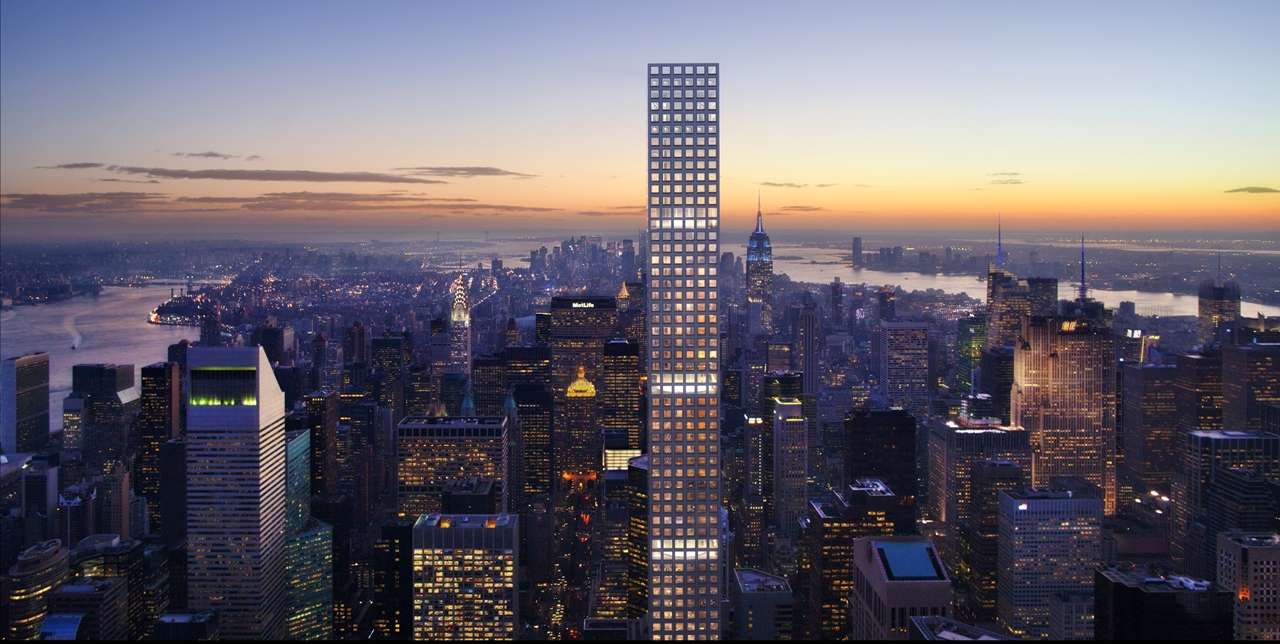 432 Park Avenue at dusk