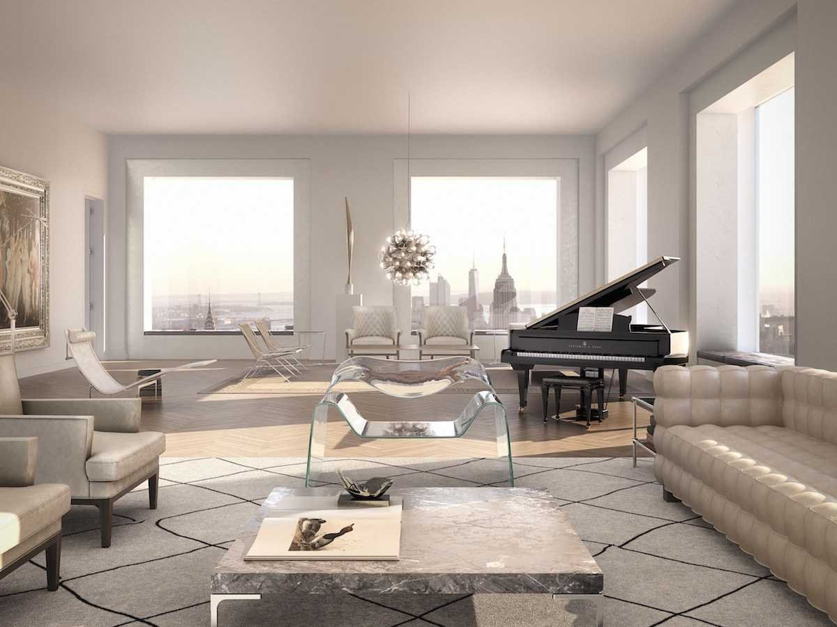 Penthouse interior in 432 Park Avenue