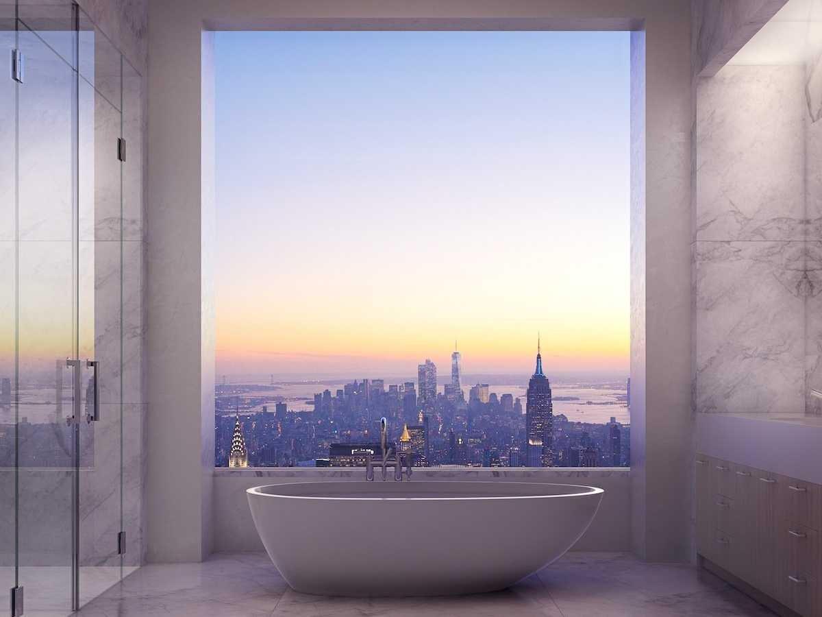 Bathroom in 432 Park Avenue penthouse