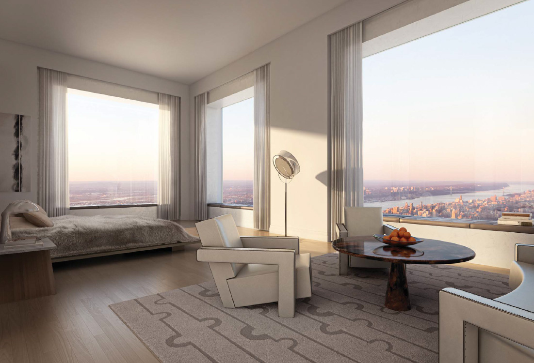 Bedroom in 432 Park Avenue penthouse