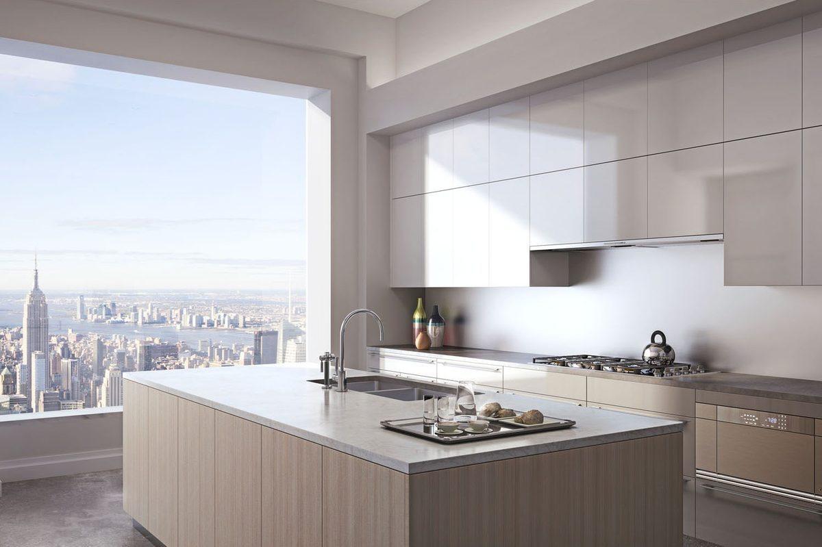 Modern kitchen in 432 Park Avenue