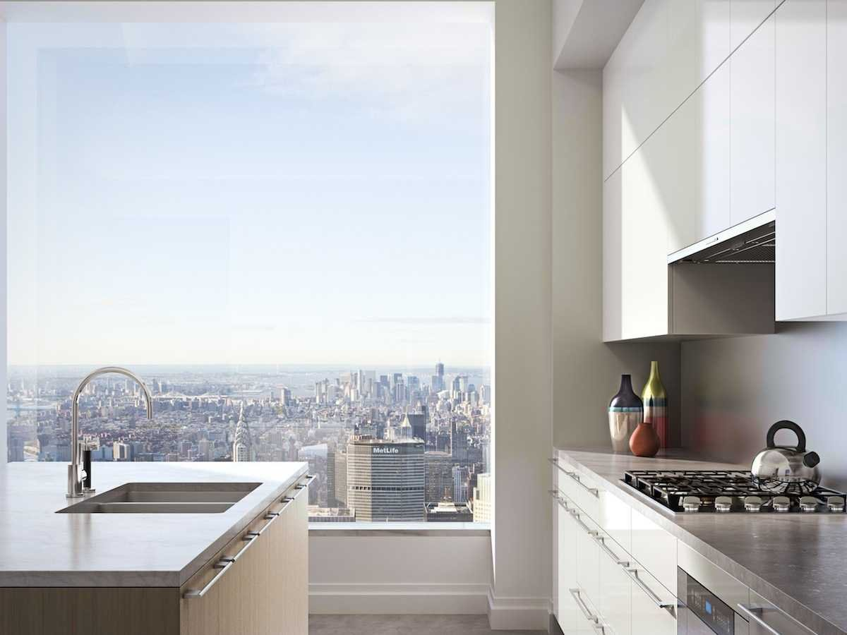 Kitchen view in 432 Park Avenue