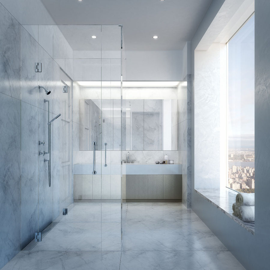 Apartment shower in 432 Park Avenue