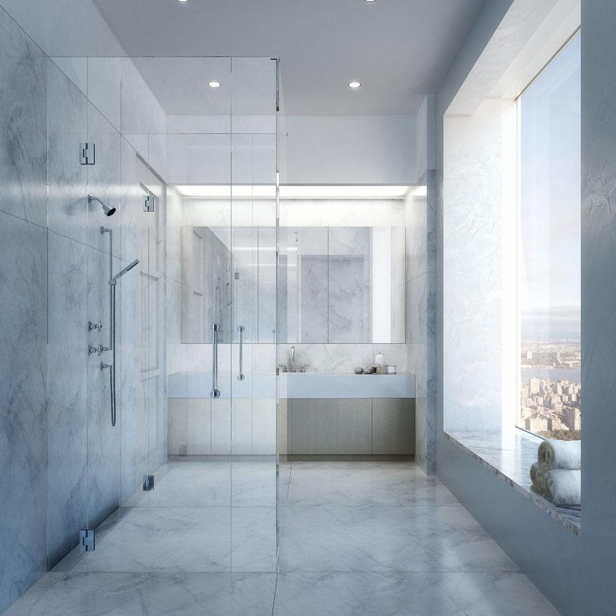 Apartment shower in 432 Park Avenue