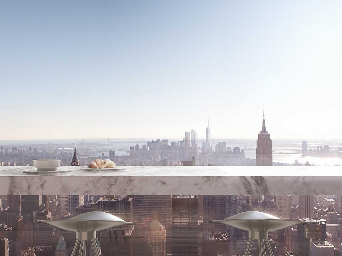 Penthouse terrace view from 432 Park Avenue
