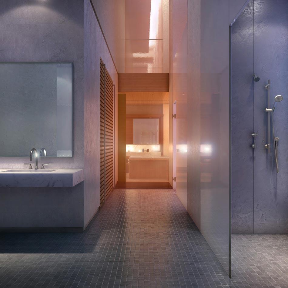 Apartment bathroom in 432 Park Avenue