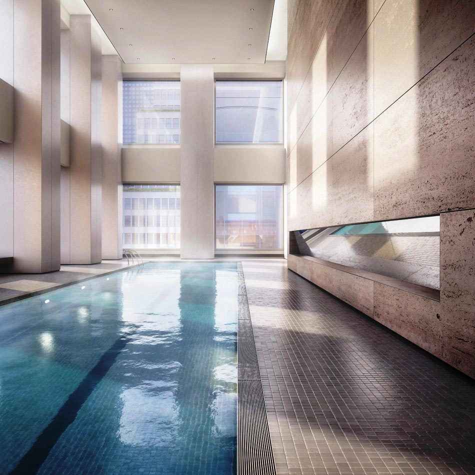 Swimming pool in 432 Park Avenue
