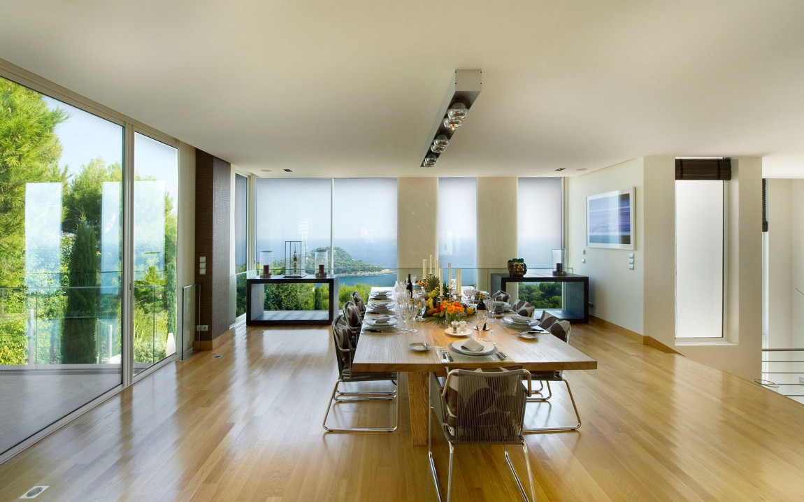 Modern Dining Room In French Dream Home