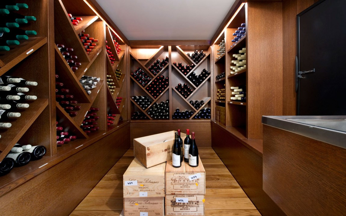 Modern wine cellar in French dream home