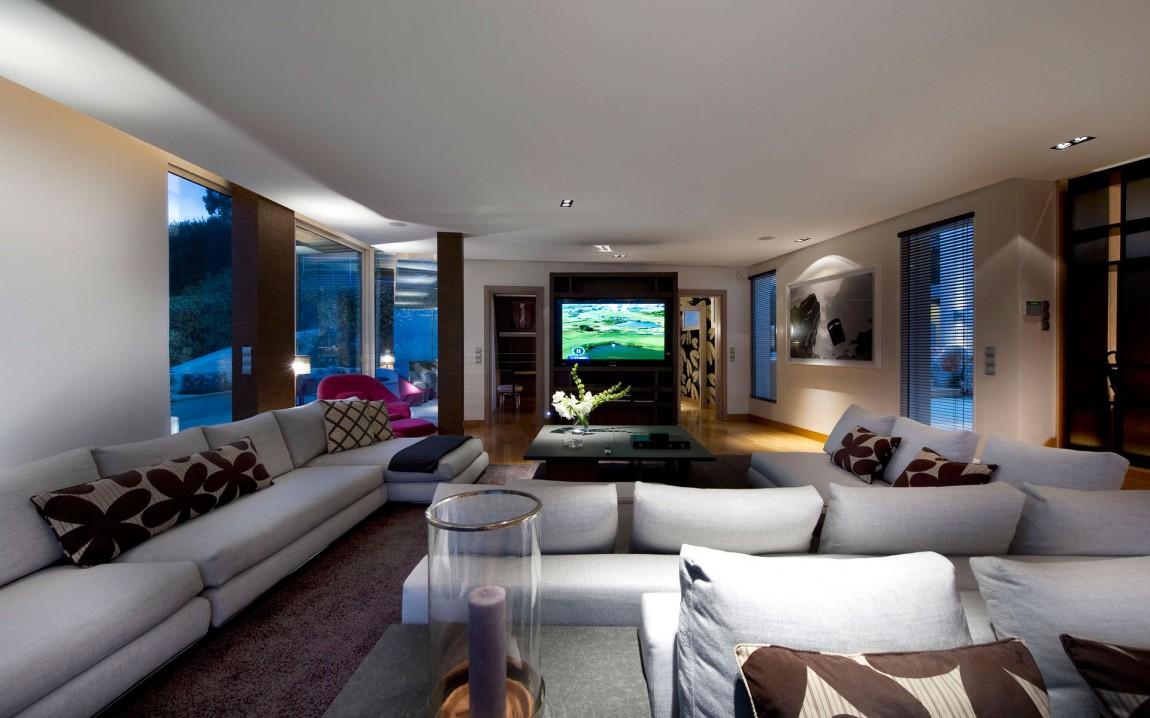 Living room interior in modern villa in France