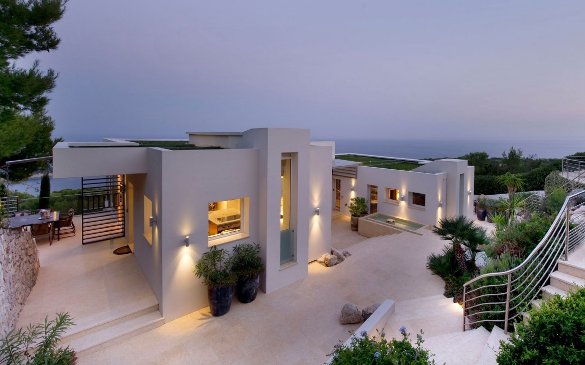 Luxury dream home in mediterranean paradise architecture for New contemporary houses