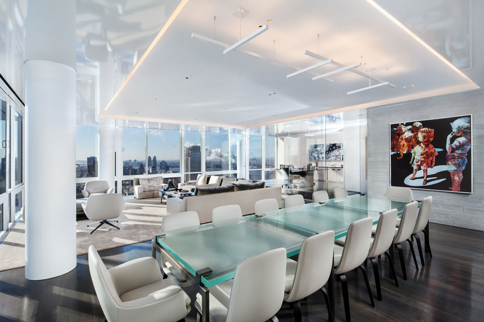 Glass Dining Table In Modern Apartment