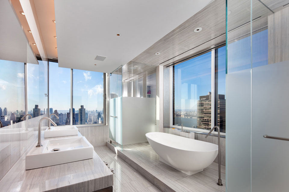 Modern Apartment Bathroom gorgeous modern apartment above the new york city - architecture beast