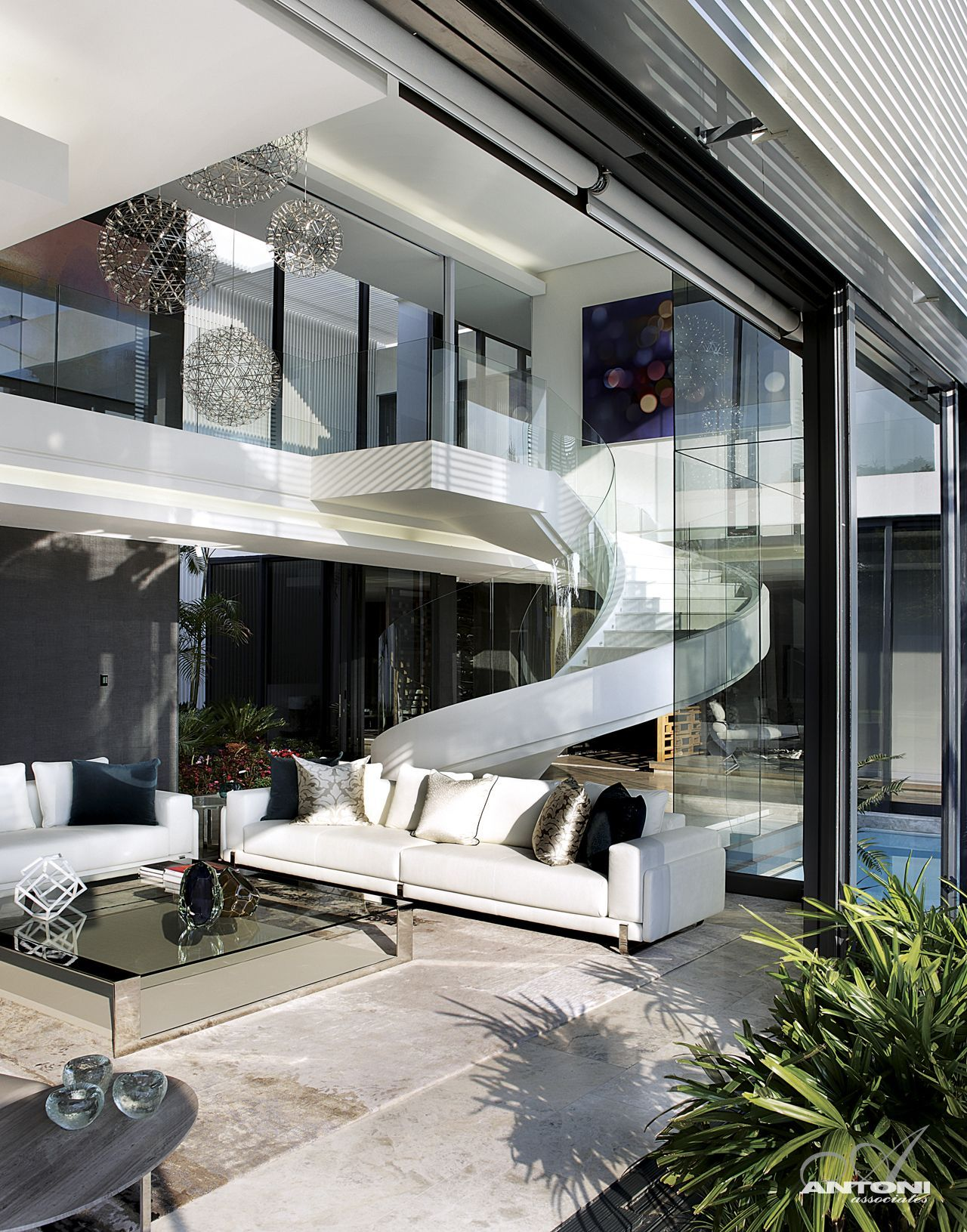Modern mansion with perfect interiors by saota for Modern house stairs