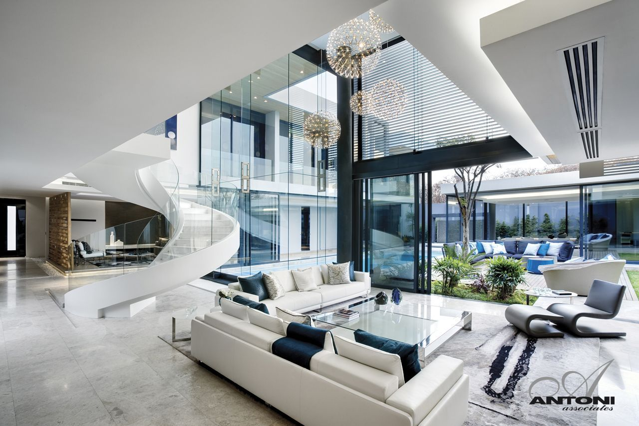 Incredible living room in modern mansion