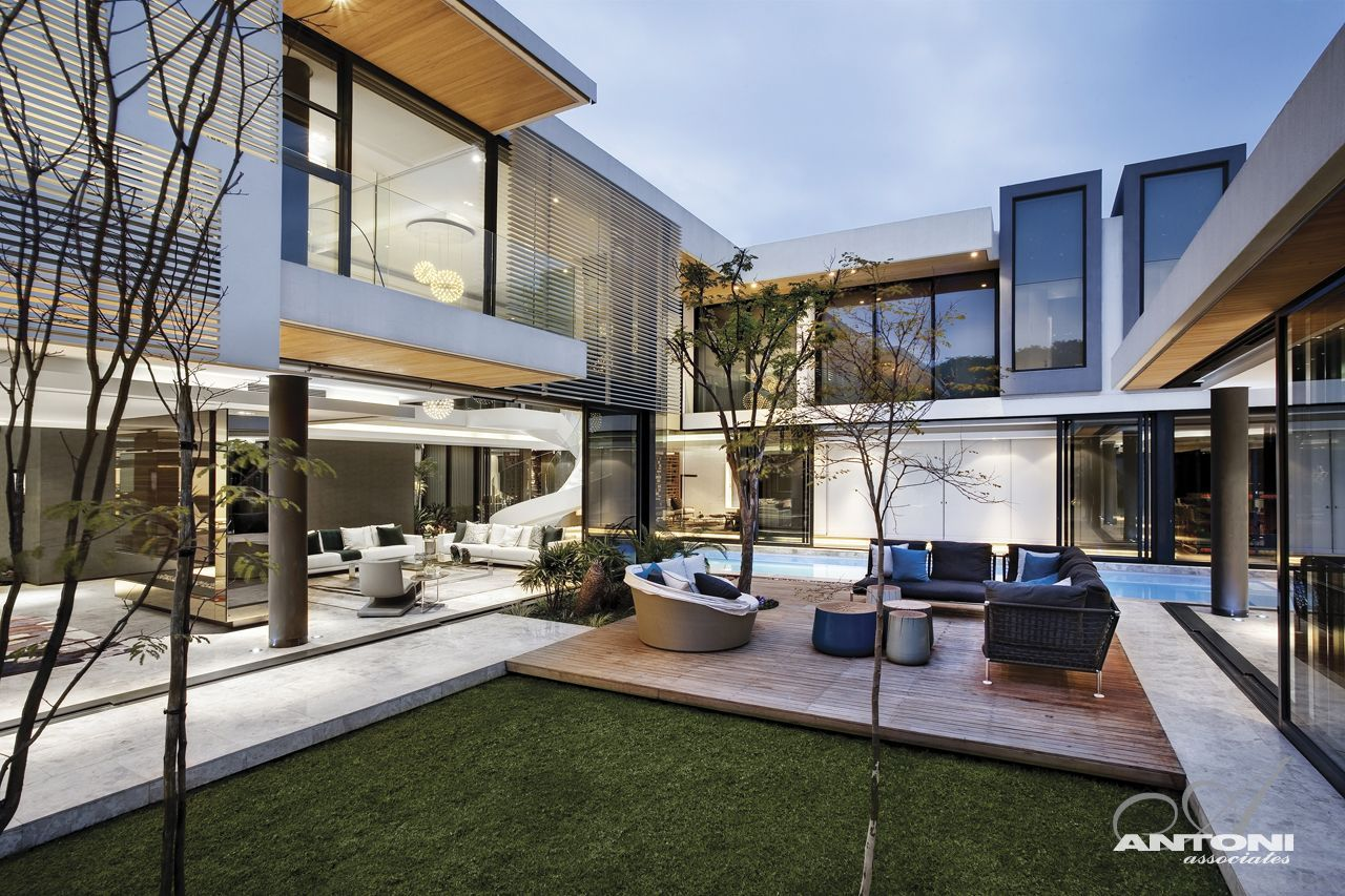 Terrace and modern facade in South Africa