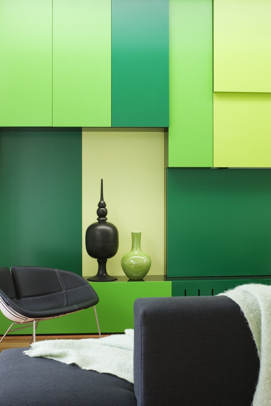 Green modern living room furniture