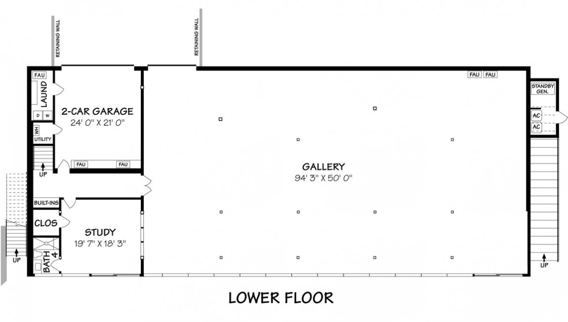 Lower floor plan of the most minimalist house ever designed