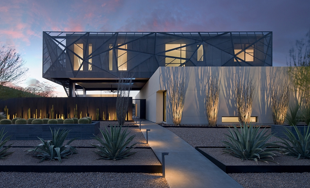 Large modern home in the desert