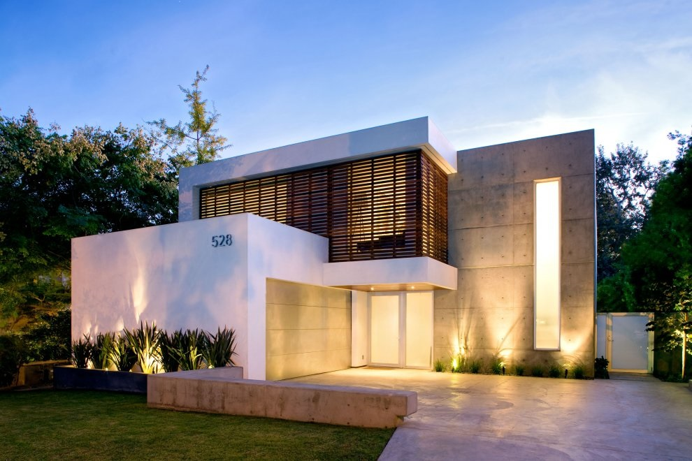 small modern home minimalist white facade - Minimalistic House Design