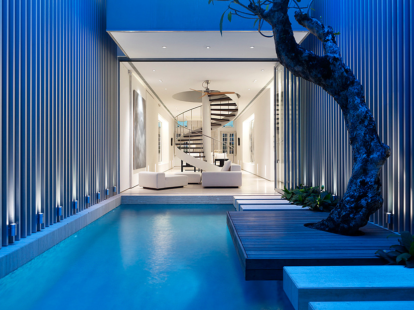 Small modern swimming pool