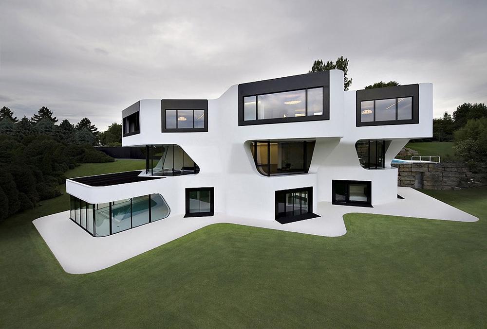 Futuristic modern home