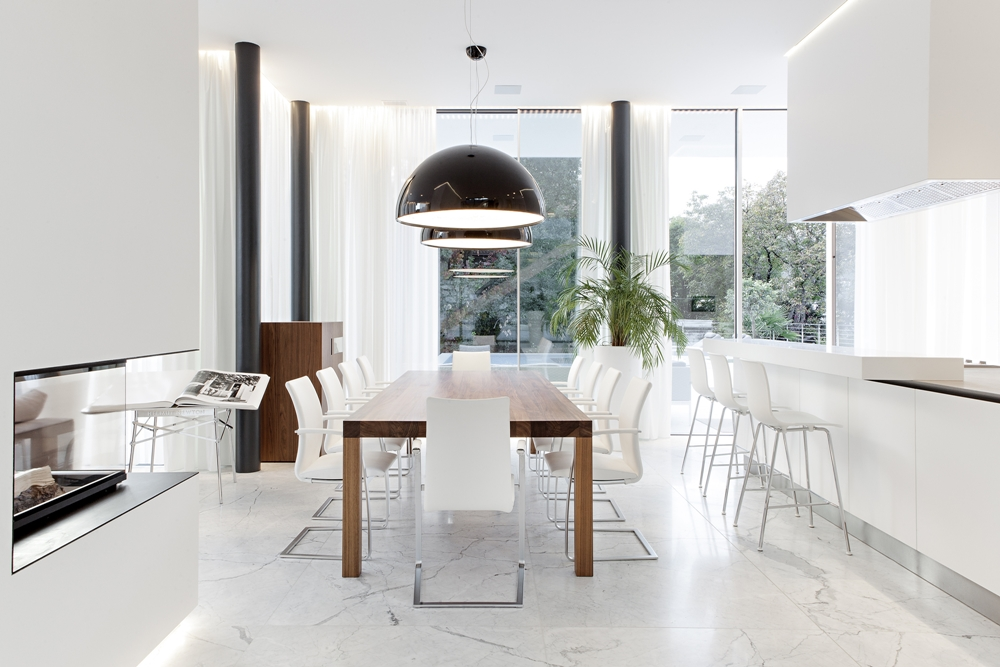 Modern White Dining Room