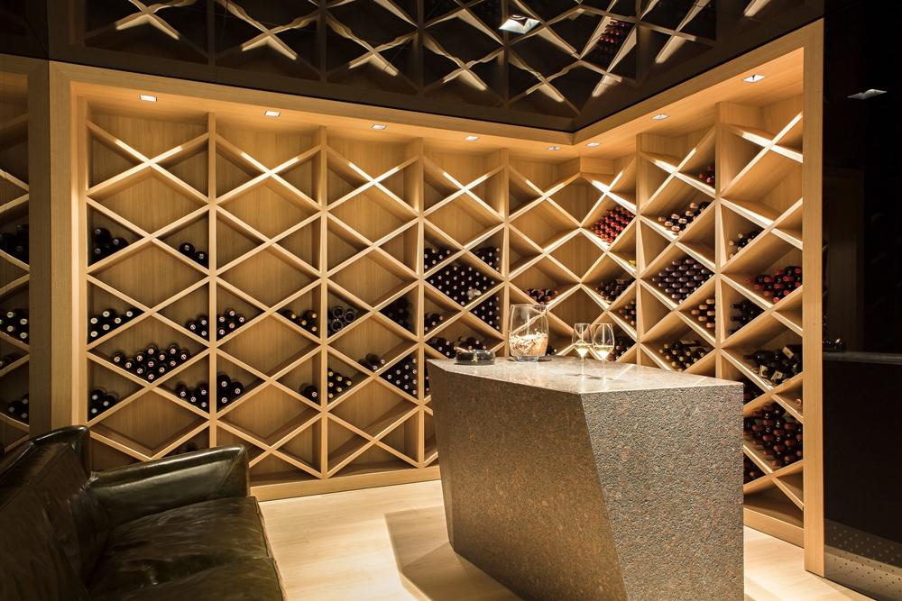 Modern wine cellar in House M