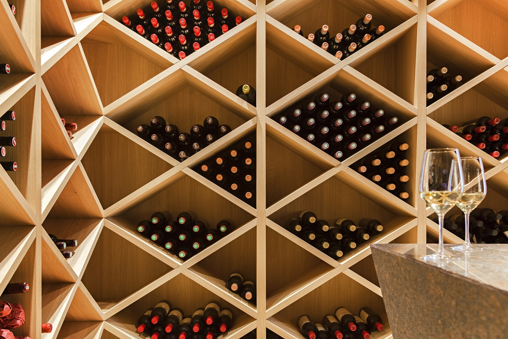 Most beautiful houses in the world house m for Garage wine cellar