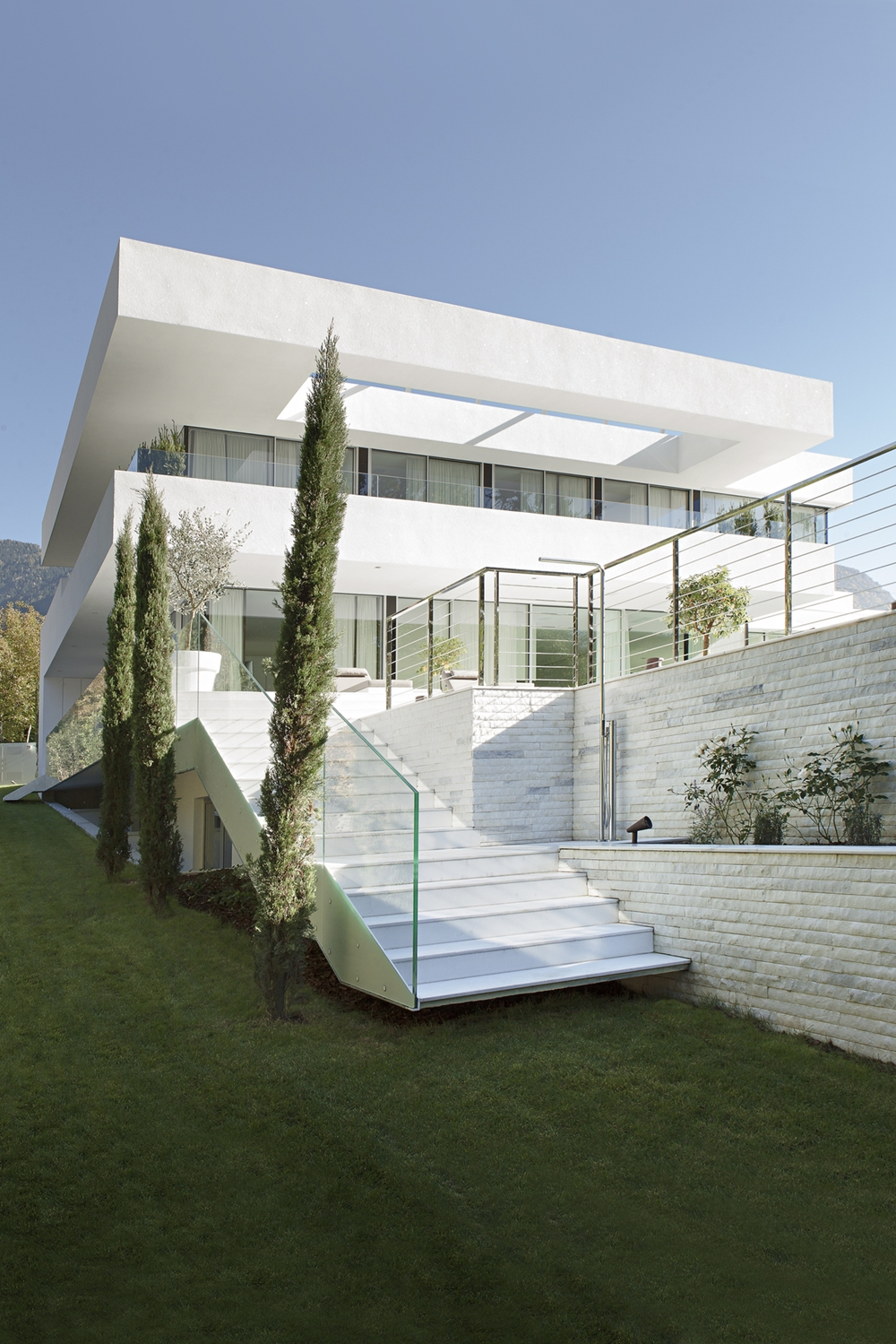 Outdoor stairs and house m