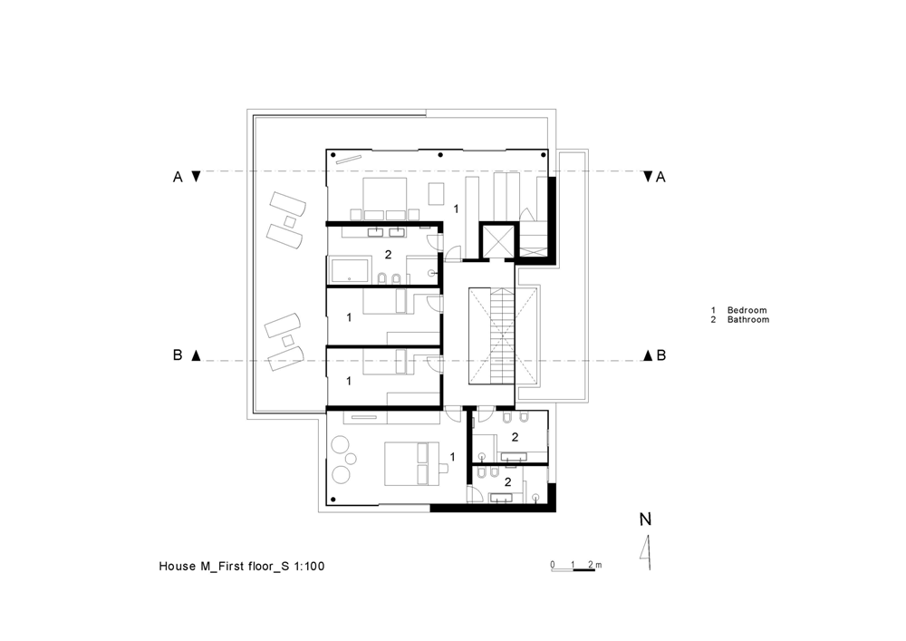 First floor plan of House M
