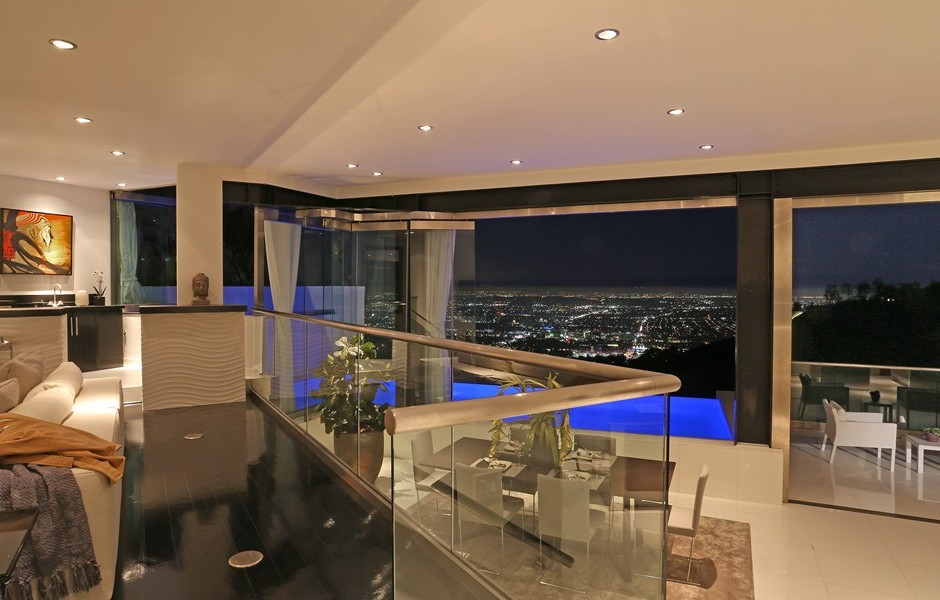 Modern interiors with the views