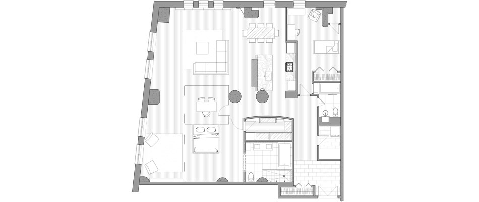 Modern apartments floor plans design latest for Apartment floor plan ideas