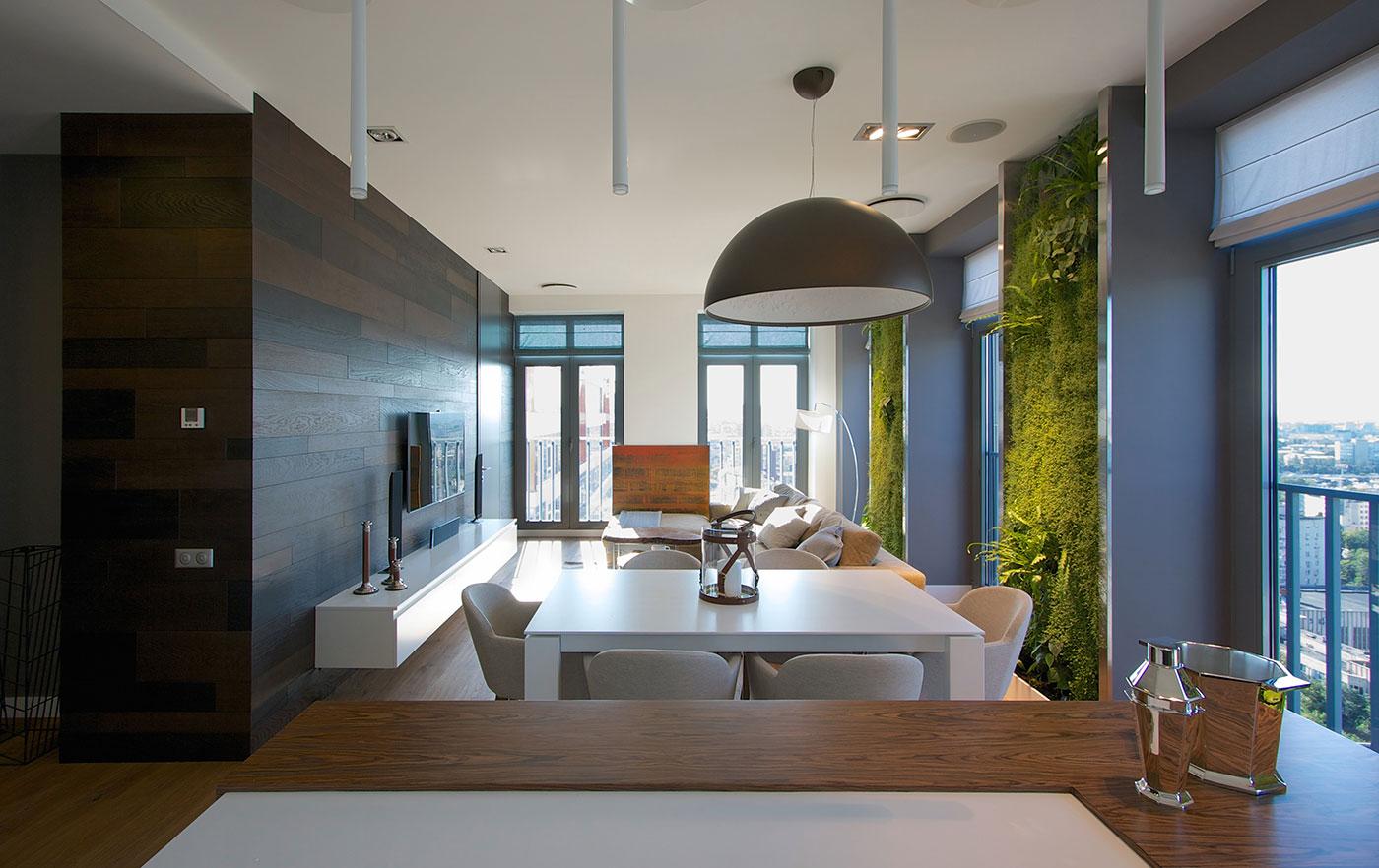 Modern Apartment Design: Green Walls by SVOYA ...