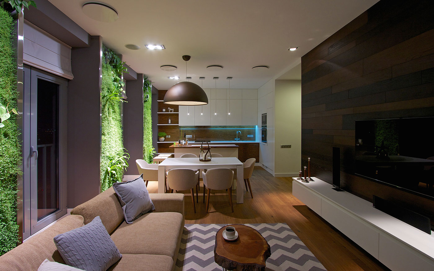 House Floor Plans With Loft Modern Apartment Design Green Walls By Svoya
