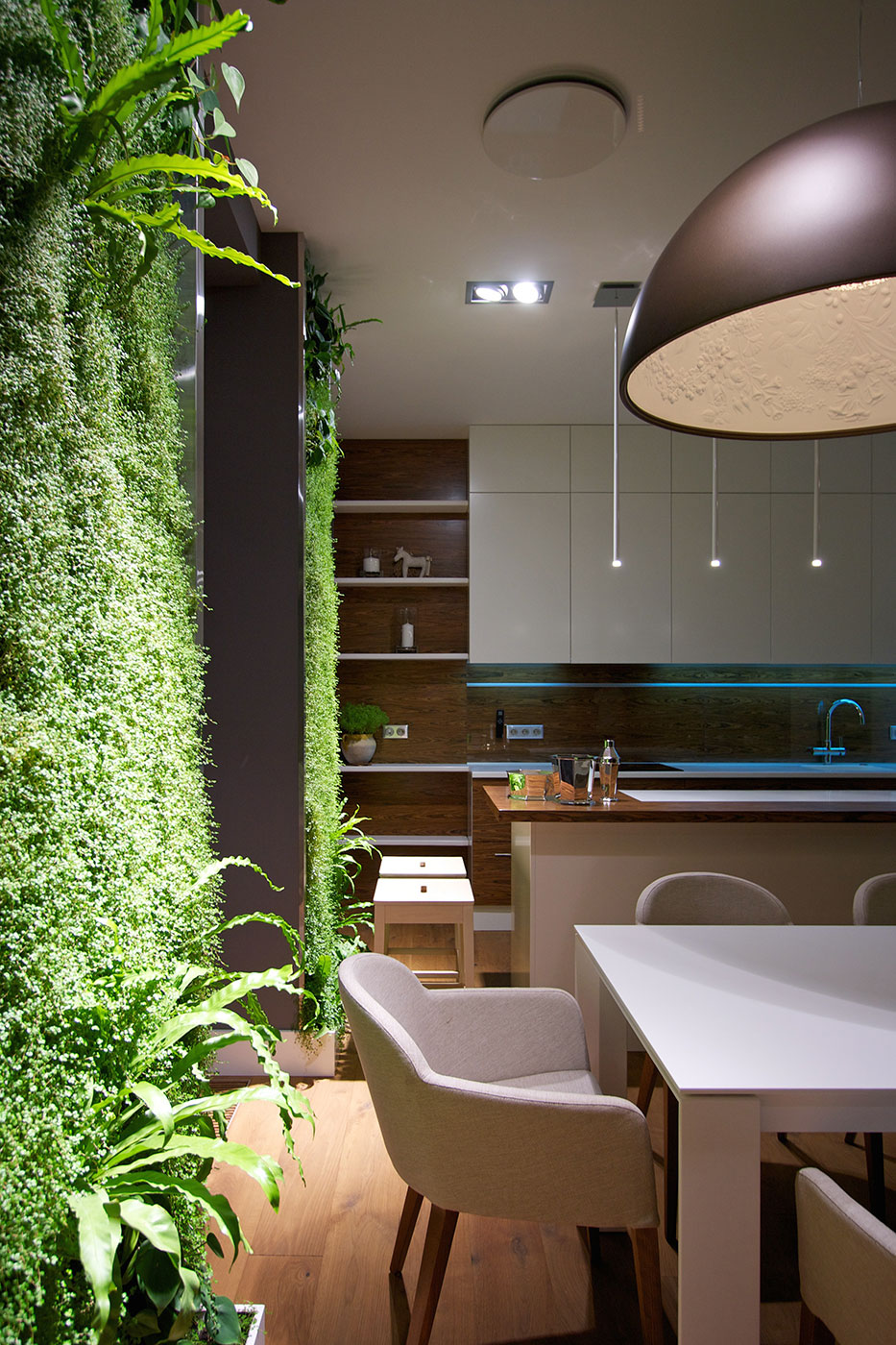 modern apartment design: green wallssvoya - architecture beast